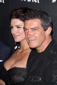 Gina Carano and Antonio Banderas — Stock Photo