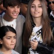 Justin Bieber, Paris Jackson, Blanket Jackson  at Michael Jackson Immortalized at Grauman's Chinese Theatre, Hollywood, CA 01-26-12 — Stock Photo