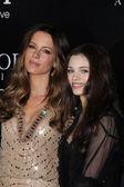 "Kate Beckinsale, India Eisley at the ""Underworld Awakening"" World Premiere, Chinese Theater, Hollywood, CA 01-19-12 — Stock Photo"