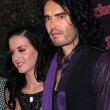 Постер, плакат: Katy Perry and Russell Brand at the Rolling Stone American Music Awards VIP After Party Rolling Stone Restaurant & Lounge Hollywood CA 11 21 10