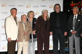 Roger Williams, Mickey and Jan Rooney, Diane Ladd, Jim Ladd, Bob Barker — Stock Photo