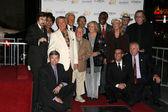 Roger Williams, Mickey Rooney, Jan Rooney, Diane Ladd, Jim Ladd, Bob Barker — Stock Photo