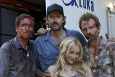 Ryan Honey, Denny Kirkwood, Michael Biehn and Jennifer Blanc — Stock Photo