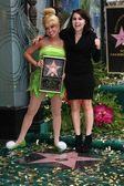 Tinker Bell and Mae Whitman — Stock Photo