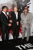Sylvester Stallone and Bruce Willis and Mickey Rourke — Stock Photo