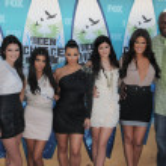 Kendall Jenner, Kourtney Kardashian, Kim Kardashian, Kylie Jenner, Khloe Kardashian, Lamar Odom at the 2010 Teen Choice Awards - Arrivals, Gibson Amphitheater, Universal City, CA. 08-08-10 — Stock Photo