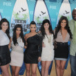 Kendall Jenner, Kourtney Kardashian, Kim Kardashian, Kylie Jenner, Khloe Kardashian, Lamar Odomat the 2010 Teen Choice Awards - Arrivals, Gibson Amphitheater, Universal City, CA. 08-08-10 — Stock Photo
