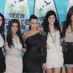 Kendall Jenner, Kourtney Kardashian, Kim Kardashian, Kylie Jenner, Khloe Kardashian — Stock Photo