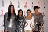Khloe Kardashian, Kourtney Kardashian, Kimberly Kardashian and Chris Kardashian at E!'s 20th Birthday Bash Celebrating Two Decades of Pop Culture, The London, West Hollywood, CA. 05-24-10 — Stock Photo