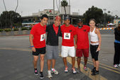 Keven Ramirez, Yancy Arias, Amaury Nolasco, Shay Roundtree and Jennifer Morrison at the Padres Contra El Cancer Annual Stand for Hope 5K Run Walk, Rose Bowl, Pasadena, CA. 06-26-10 — Stock Photo