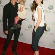 Постер, плакат: Gabriel Macht and Jacinda Barrett and daughter Satine Anais Geraldine Macht at the World Premiere of Project Natal for XBOX 360 Imagined by Cirque Du Soleil Galen Center Los Angeles CA 06 13 10