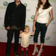 "Gabriel Macht and Jacinda Barrett and daughter Satine Anais Geraldine Macht at the World Premiere of ""Project Natal"" for XBOX 360 Imagined by Cirque Du Soleil, Galen Center, Los Angeles, CA. 06-13-10 — Stock Photo"