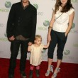 Gabriel Macht and Jacinda Barrett and daughter Satine Anais Geraldine Macht - Stock Photo