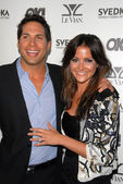 Joe Francis and fiancee Christina McLarty at the OK Magazine USA Fifth Anniversary Party, La Vida, Hollywood, CA. 08-01-10 — Stock Photo