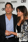 Joe Francis and fiancee Christina McLarty — Stock Photo