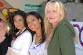 """Emmanuelle Chriqui, Rosario Dawson and Daryl Hannahat the EMA Celebrates the Garden Challenge by """"Gettin Your Garden On,"""" Venice High School, Los Angeles, CA. 05-26-10 — Fotografia Stock"""