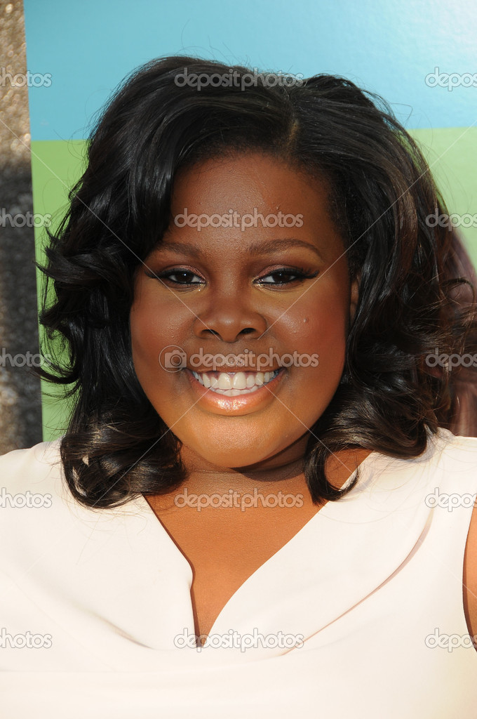 """Amber Riley at the """"Glee"""" Academy Event, Henry Fonda Theater, Hollywood, CA 07-27-10 — Foto di s_bukley - depositphotos_14656709-Amber-Riley"""
