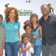 Постер, плакат: Holly Robinson Peete Rodney Peete and familyat the Shrek Forever After Los Angeles Premiere Gibson Amphitheater Universal City CA 05 16 10