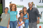 "Holly Robinson Peete, Rodney Peete and familyat the ""Shrek Forever After"" Los Angeles Premiere, Gibson Amphitheater, Universal City, CA. 05-16-10 — Stock Photo"