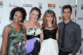 Karissa Tynes, Anna Mae Routledge, Debby Ryan and Jean-Luc Bilodeau — Stock Photo