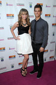 Debby Ryan and Jean-Luc Bilodeau — Stock Photo