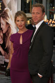 Christina Applegate and fiance Martyn LeNoble — Stock Photo