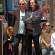 Alex Lifeson and Geddy Lee  at the induction ceremony for RUSH into the Hollywood Walk of Fame, Hollywood, CA. 06-25-10 — Stock Photo