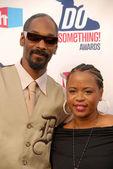 Snoop dogg y esposa shante — Foto de Stock