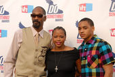 Snoop Dogg, wife Shante Taylor and son Corde — Stock Photo