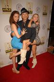 Alicia Arden, James Hong and Paula Labaredas — Photo