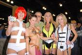 Rene Riffel, Alicia Arden, Stan Lee, Mary Carey and Paula Labaredas — Stock Photo
