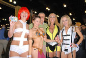 Rene Riffel, Alicia Arden, Stan Lee, Mary Carey and Paula Labaredas — Stock Photo