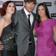 Rumer Willis, Ashton Kutcher and Demi Moore — Stock Photo #14985929