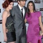 Rumer Willis, Ashton Kutcher and Demi Moore — Stock Photo