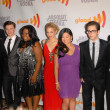 "Stock Photo: Cast of ""Glee"" at 21st Annual GLAAD MediAwards, Hyatt Regency Century Plaza, Century City, CA. 04-17-10"
