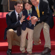 Stock Photo: Max Brooks, son Henry and Mel Brooks