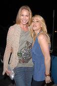 Kathleen Kinmont and Jennifer Blanc-Biehn at Jennifer Blanc-Biehns Birthday Party, Sardos, Burbank, CA. 04-23-10 — Stock Photo