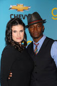 Idina Menzel and Taye Diggs — Stock Photo