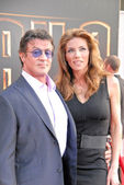 Sylvester Stallone and Jennifer Flavin — Stock Photo
