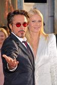 Robert Downey Jr. and Gwyneth Paltrow — Stock Photo