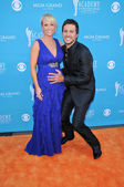 Luke Bryan and Wife — Stock Photo