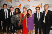 "Elenco de ""glee"", o Xxi glaad anual media awards, hyatt regency century plaza, century city, ca. 17/04/10 — Fotografia Stock"