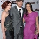 Rumer Willis, Ashton Kutcher and Demi Moore — Stock Photo #14997115