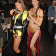 Bridgetta Tomarchio and costumed attendee - Stockfoto