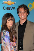 Lea Michele and Jonathan Groff — Stock Photo
