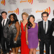 "Photo: Cast of ""Glee"" at 21st Annual GLAAD MediAwards, Hyatt Regency Century Plaza, Century City, CA. 04-17-10"