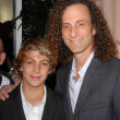 Kenny G and son at TheWraps Exclusive Oscar Party, Culina, Four Seasons Hotel, Beverly Hills, CA. 03-01-10 — Stock Photo #15007285