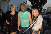 Rena Riffel, The Toxic Avenger and Paula Labaredas — Stock Photo