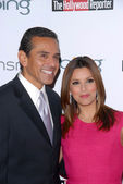 Antonio Villaraigosa and Eva Longoria Parker at the Hollywood Reporter's Nominee's Night at the Mayor's Residence, presented by Bing and MSN, Private Location, Los Angeles, CA. 03-04-10 — Stock Photo