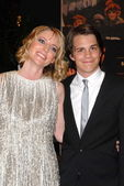 """Shana Feste and Johnny Simmons at """"The Greatest"""" Los Angeles Premiere, Linwood Dunn Theater, Hollywood, CA. 03-25-10 — Stock Photo"""